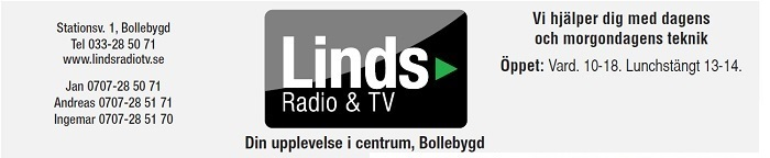 Linds RAdio & TV - Din upplevelse i centrum 033-285071